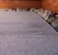 Terrassensteine verlegt Granit Grau