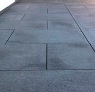 Terrassensteine verlegt Granit schwarz