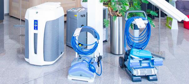 Impressionen Innenausstellung - Wärmepumpe und Bodensauger