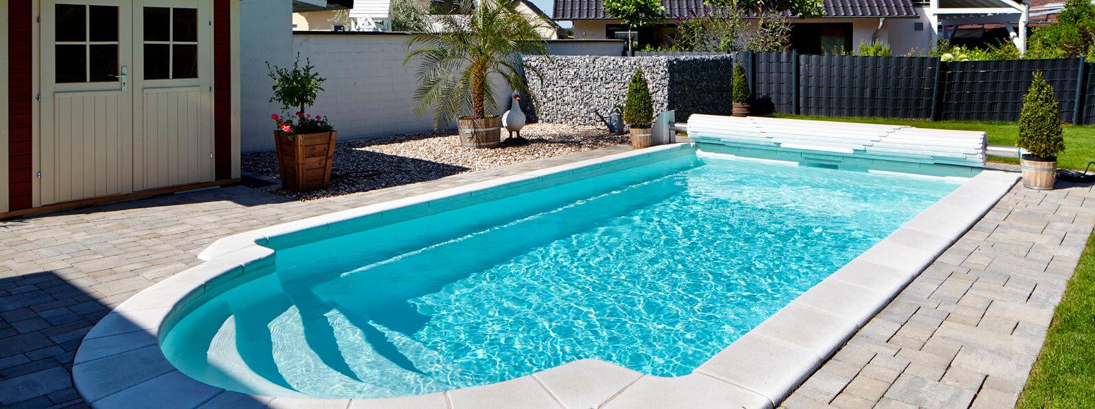 Fertigbecken einfacher einbau mit splitt - Pool ohne beton ...
