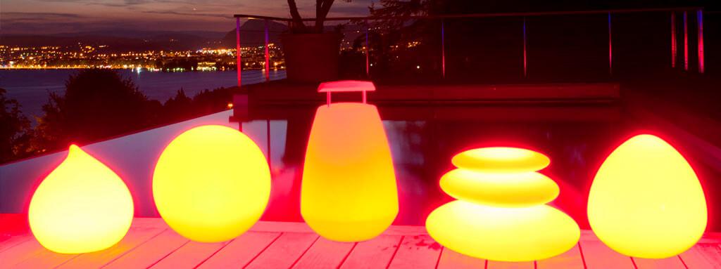 LED Leuchten in verschiedenen Formen