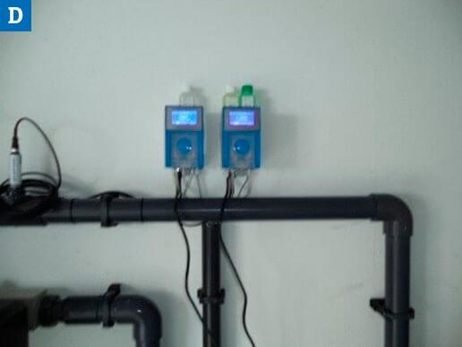 Montage der Wasseraufbereitungsgeräte - Dosieranlagen