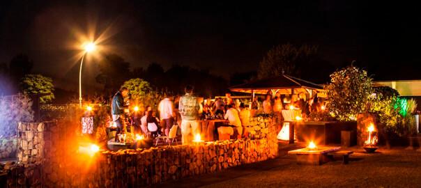 Lichteffekte bei der Wiko Lounge im Sommer 2015
